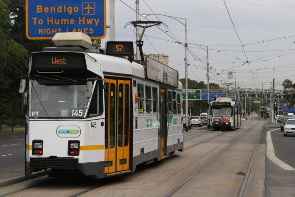 Z3.145 on route 57 waits on Flemington Road for B2.2102 on route 59a to shunt