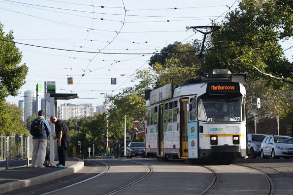 Z3.127 arrives at the Abbotsford Street Interchange with an outbound route 57 service