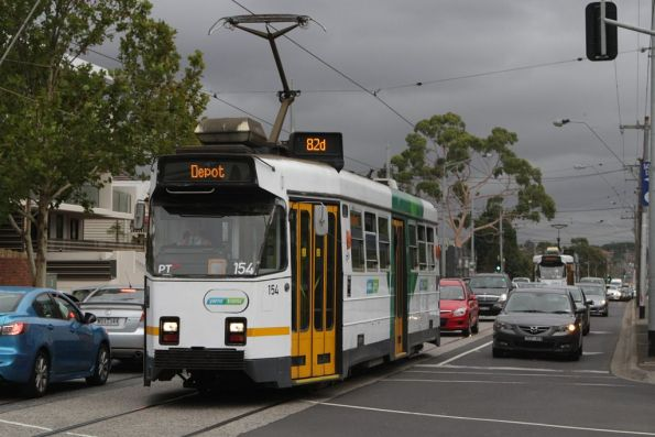 Z3.154 heads back to Essendon Depot on Maribyrnong Road