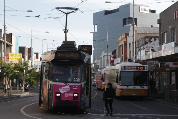 Two different ways to travel from Footscray to Moonee Ponds - route 82 tram or route 472 bus
