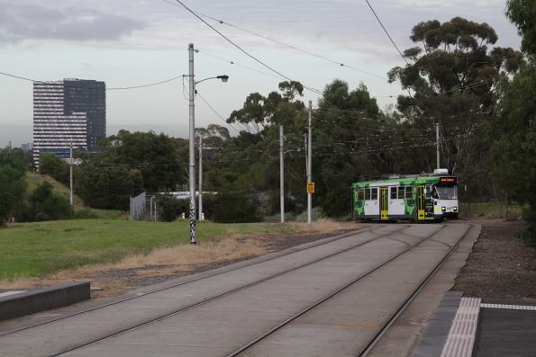 Z3.223 on route 55 arrives at the Royal Park station tram stop