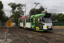 Z3.134 heads north on route 55 at Brunswick Road and Grantham Street in Brunswick West