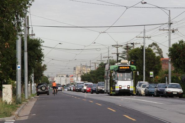 Z3.198 citybound on route 55 along Dawson Street in Brunswick West