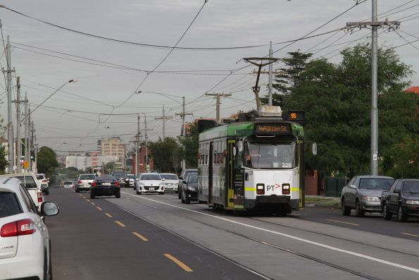 Z3.229 citybound on route 55 along Dawson Street in Brunswick West