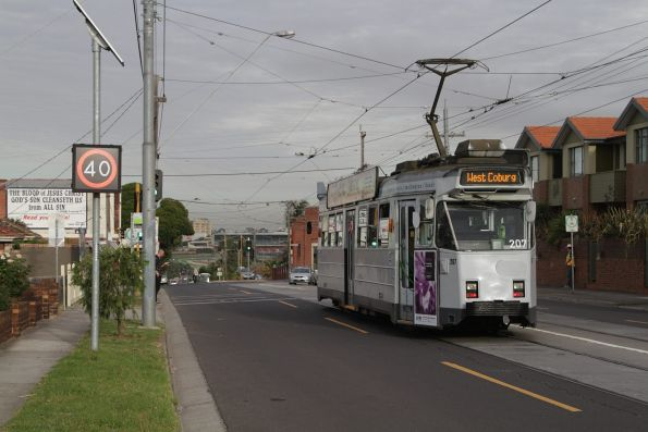 Z3.207 heads east along route 55 on Dawson Street in Brunswick West