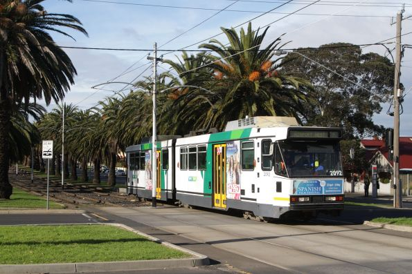 B2.2092 outbound on route 59 along Mount Alexander Road, Essendon