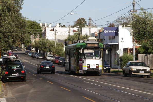 Z3.229 heads west along Maribyrnong Road with a route 57 service