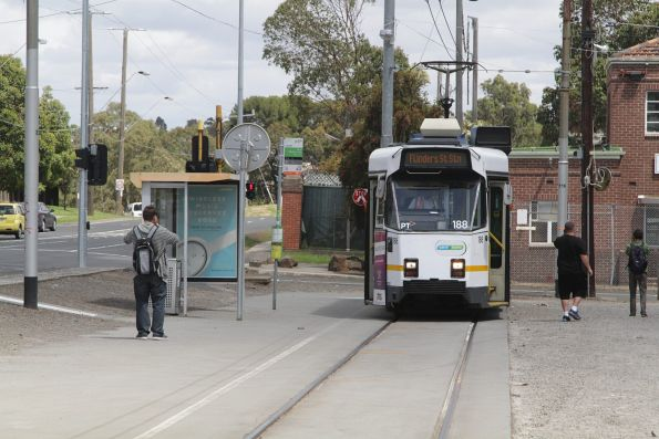 Z3.188 awaits departure time from the route 57 terminus at West Maribyrnong