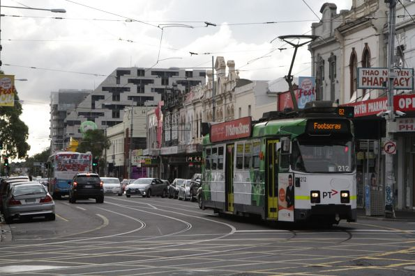 Z3.212 turns from Hopkins into Leeds Street on a route 82 service to Footscray