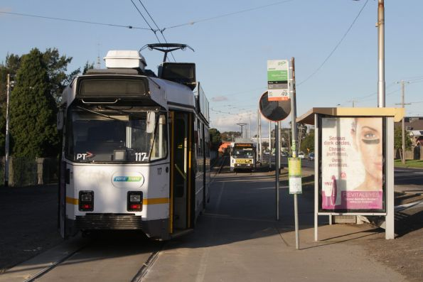 Z3.117 on a route 57a service at the West Maribyrnong terminus