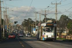 Z3.145 heads west on a route 57a service at Raleigh Road and Van Ness Avenue