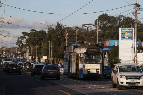 Z3.130 heads west on a route 82 service at Raleigh Road and Van Ness Avenue
