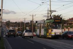 Z3.172 heads west on a route 82 service along Raleigh Road