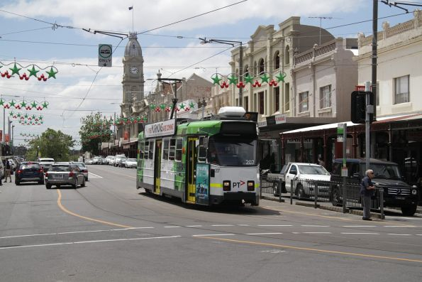 Z3.207 southbound on route 57 at Errol and Victoria Street