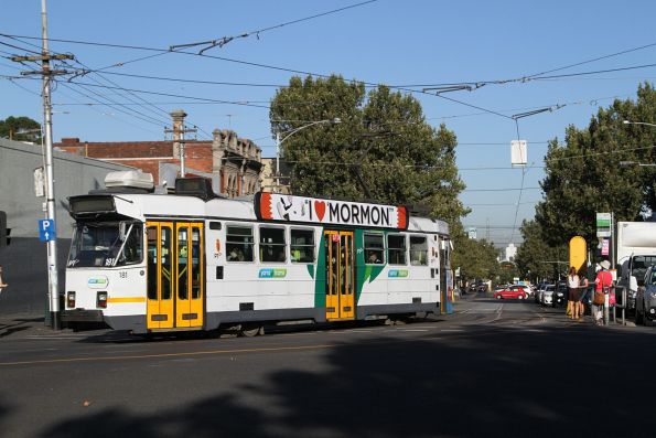 Z3.181 on route 57 turns from Errol into Queensberry Street, North Melbourne
