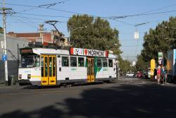 Z3.146 on route 57 turns from Errol into Queensberry Street, North Melbourne