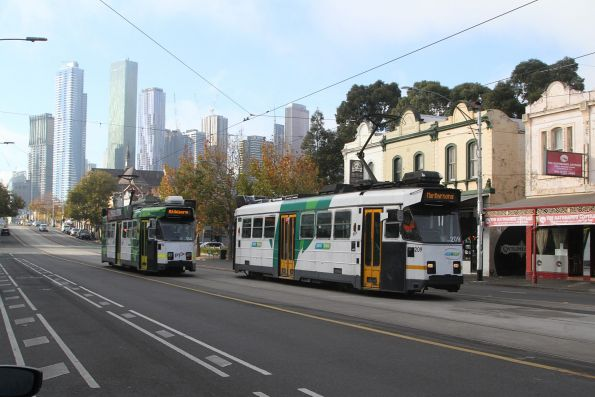 Z3.184 and Z3.209 pass on route 57 at Victoria and Errol Street