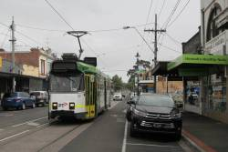Z3.139 heads north on route 57 along Union Road, Ascot Vale