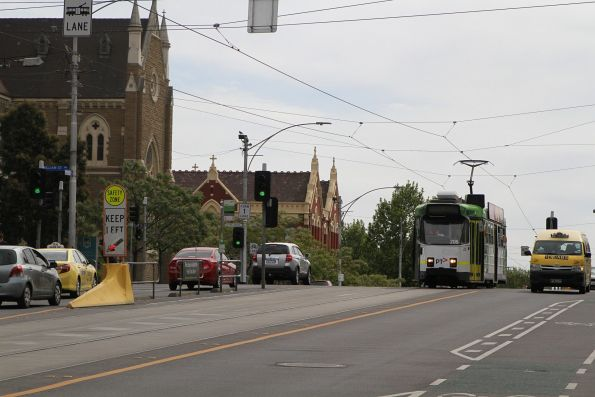 Z3.205 heads east on route 57 at Victoria and Howard Street in North Melbourne