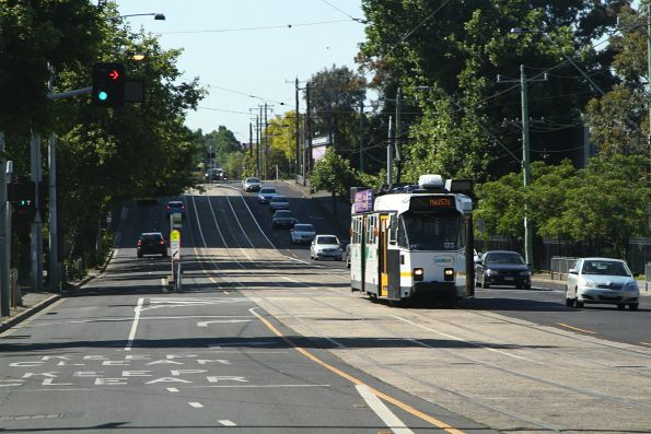 Z3.177 heads north on route 57 at Flemington Racecourse
