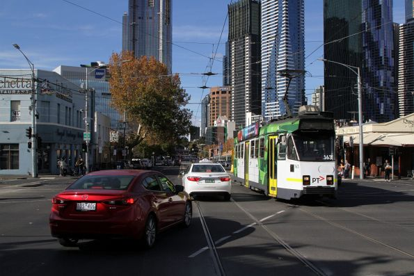 Z3.163 passes dumbarse drivers, headed west on route 57 at Victoria and Peel Street