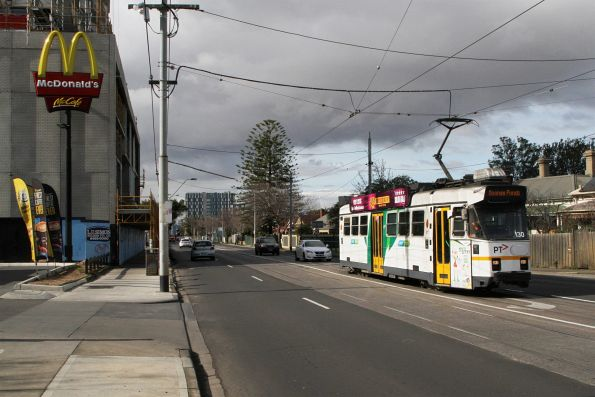 Z3.130 heads west on route 82 at Ballarat Road and Gordon Street