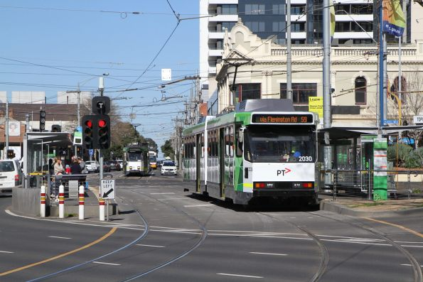 B2.2030 heads north on route 59 at Moonee Ponds Junction