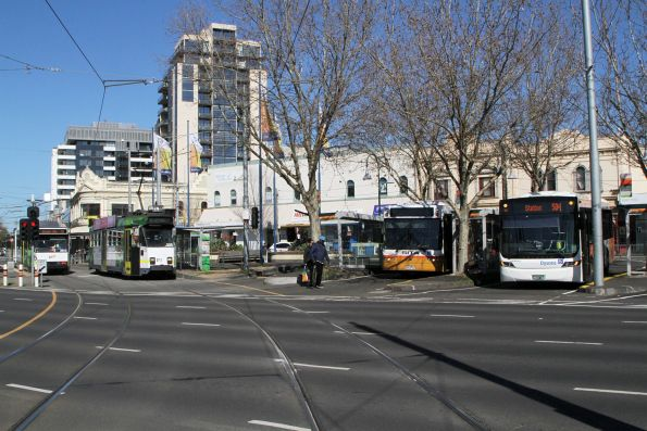 Z3.205 on route 82 passes Sita and Dysons buses at Moonee Ponds Junction