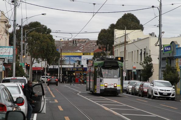 Z3.185 heads north on Droop Street with a route 82 service