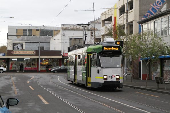 Z3.161 arrives at the route 82 terminus in Footscray