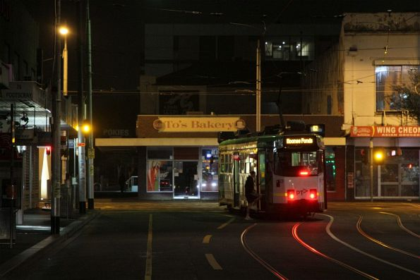 Z3.228 on route 82 departs the Footscray terminus