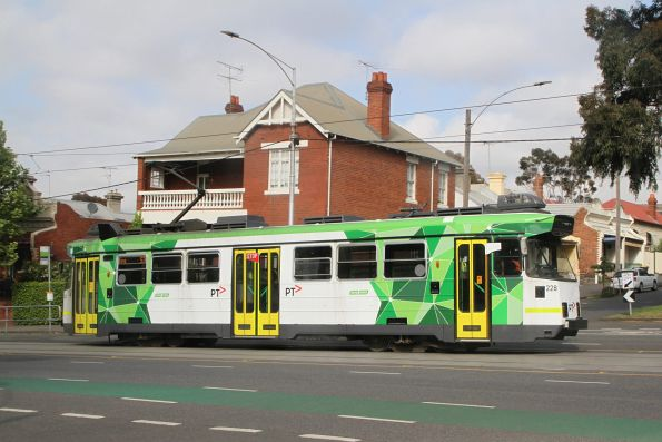 Z3.228 heads north on route 57 along Abbotsford Street