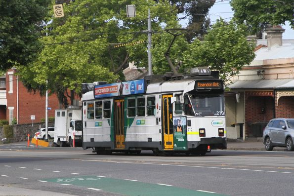 Z3.210 heads north for Essendon Depot along Abbotsford Street