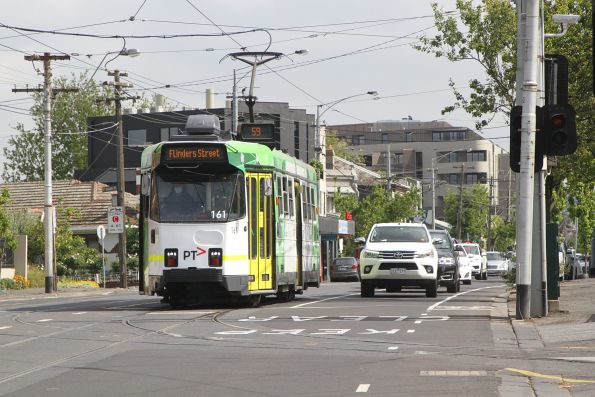 Z3.161 heads south on route 59 at Essendon Depot