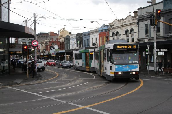 B2.2053 southbound on route 86 at Smith and Gertrude Street
