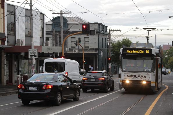 B2.2129 southbound on route 86 at Smith and Gertrude Street