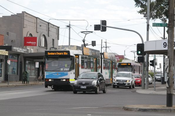 B2.2061 northbound on route 86a to Bundoora Square at Plenty Road and Bell Street