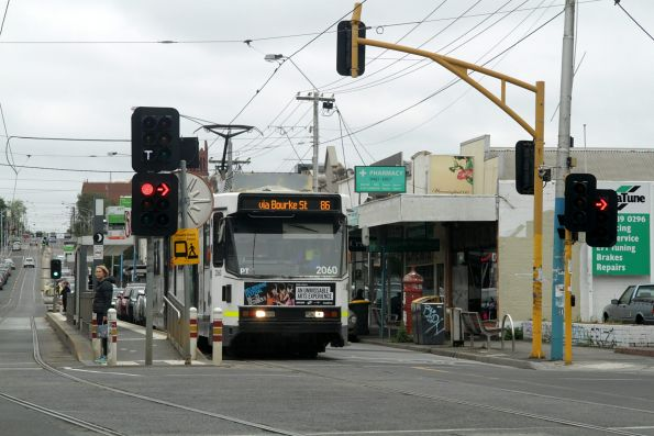 B2.2060 heads south on route 86 at High and Westgarth Streets