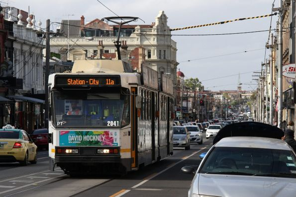 B2.2041 heads south on route 11a along Brunswick Street