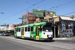 Z3.169 heads north on route 1 at Lygon Street and Glenlyon Road