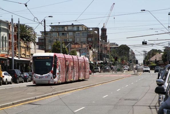 C2.5111 heads north on route 96 along Nicholson Street at North Fitzroy depot