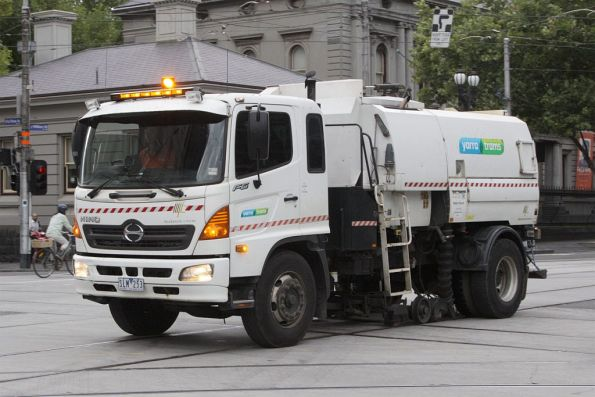 A different Yarra Trams street sweeper - they must have a few