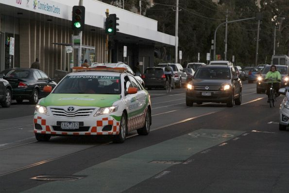 Toyota Camry response unit, on Brunswick Street