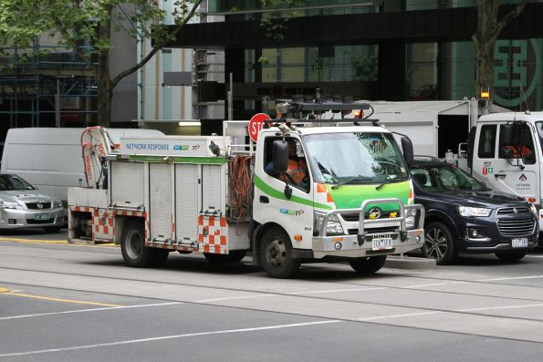 Yarra Trams network response truck at Collins and Queen Street