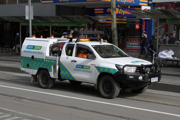 New Yarra Trams 'incident response' ute on Swanston Street