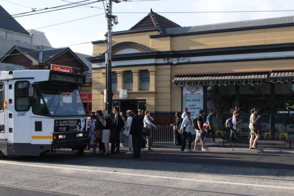 B2.2087 picks up eastbound passengers at South Yarra station