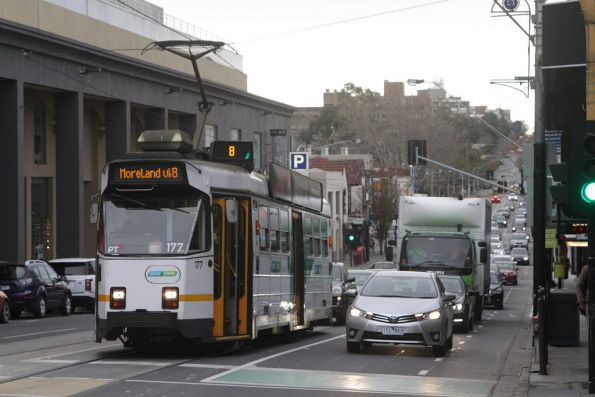 Z3.177 on route 8 at Toorak Road and Chapel Street
