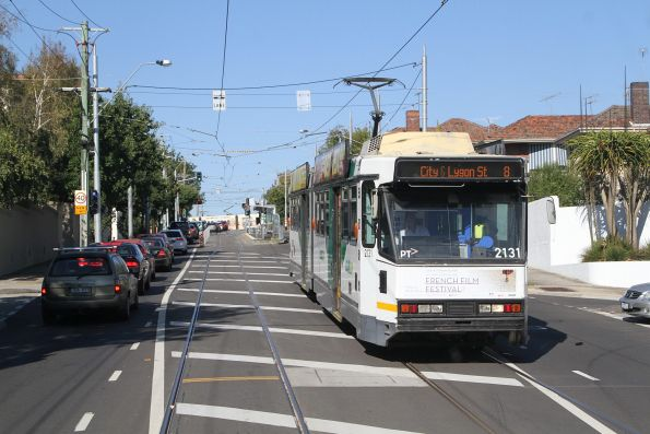 B2.2131 departs the route 8 terminus at Toorak