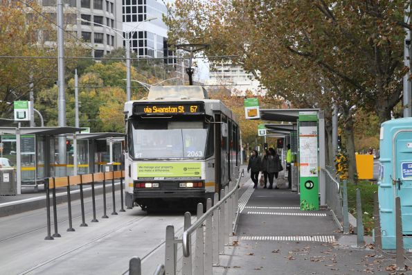 B2.2063 heads north on route 67 at St Kilda Road and Toorak Road