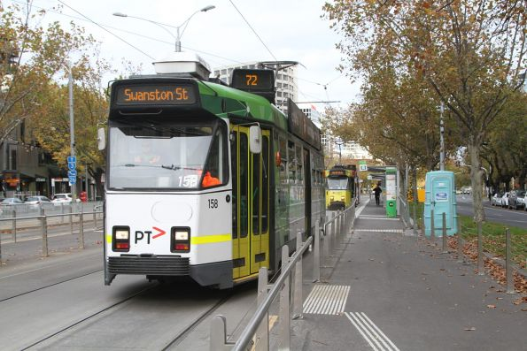 Z3.158 heads north on route 72 at St Kilda Road and Toorak Road